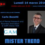 Carlo Benetti di GAM Italia SGR – trasmissione radio